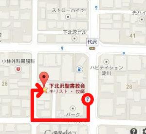 「代沢小学校」停留所からの徒歩ルート